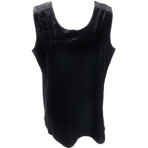 Bob Mackie Wearable Art Black Velvet Tank